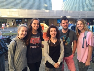 Parish girls meet host family during ParishAbroad trip to San Sebastian, Spain