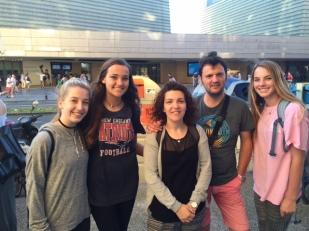 Parish girls meet host family during ParishAbroad trip to San Sebastian, Spain